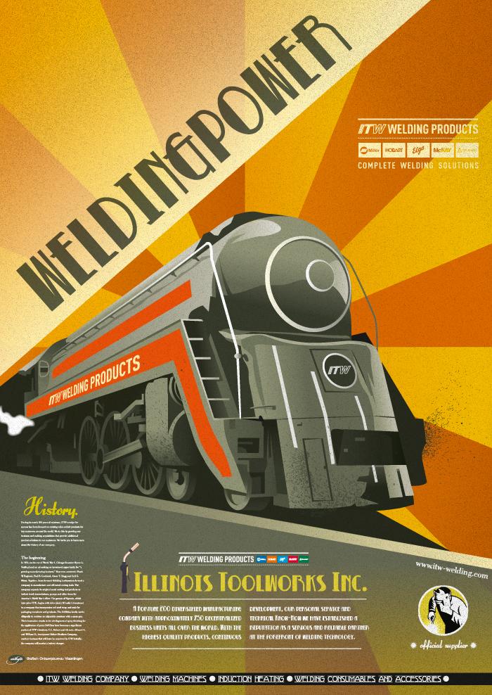 ITW Welding Art Deco Poster