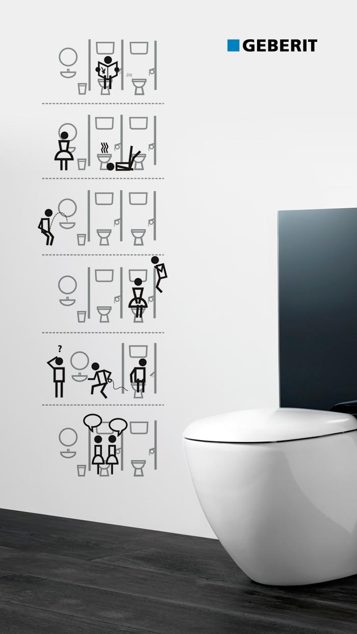 Geberit toilet icons